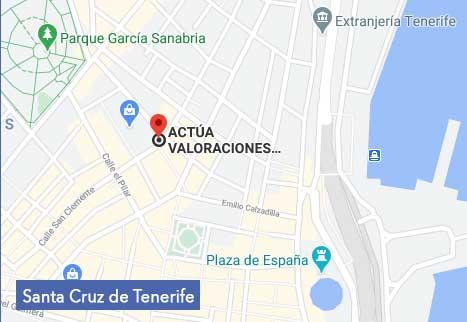 Mapa Actúa Valoraciones Canarias